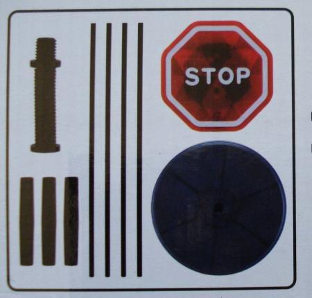 B O Garage Parking Sensor Stop Sign Flashing Led Stop