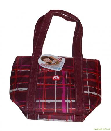 igloo 16 can cooler tote insulated lunch bag plaid