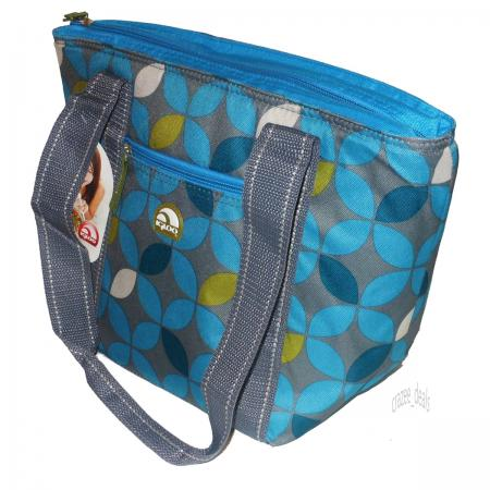 igloo 16 can cooler tote insulated lunch bag gray blue
