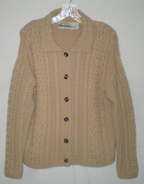 Women aran crafts ireland irish fisherman cable knit for Aran crafts fisherman sweater