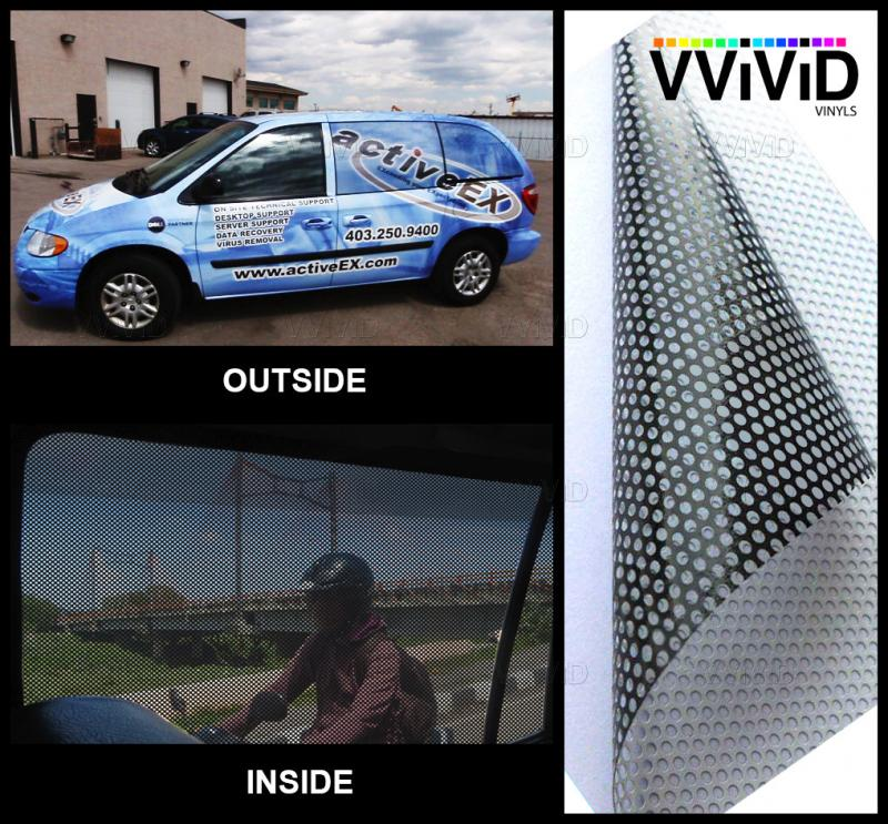 Perforated One Way Vision Print Media Vinyl 15ft X54