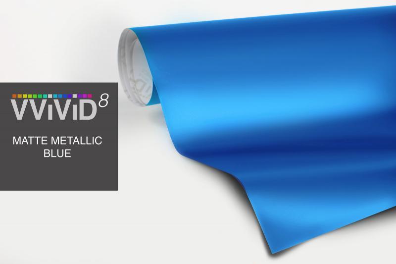 Vvivid8 Matte Metallic Blue 5ft X5ft Flat Satin Air
