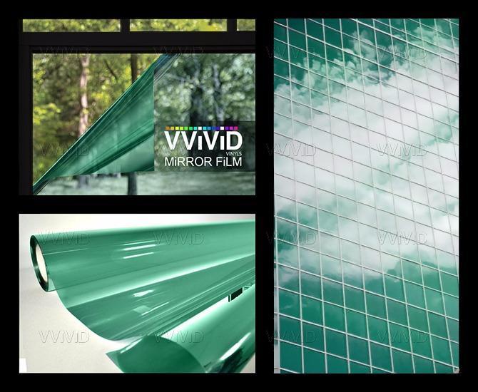 One way mirror vision reflective green window film 2ft x for 2 way mirror window film