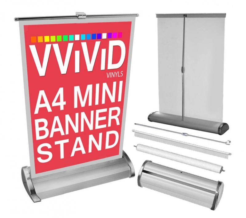 Mini Table Top Banner Stand 8 3 Quot X 12 Quot Pop Up Display Diy