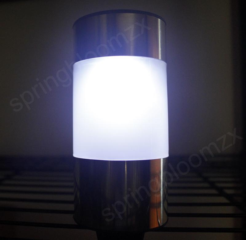 Outdoor Solar Power LED Light Landscape Path Yard Garden Cylinder Lamp UKAUC