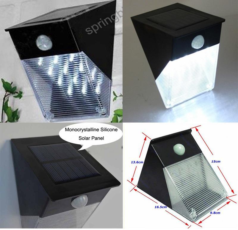 solar powered 12 led pir motion sensor outdoor garden. Black Bedroom Furniture Sets. Home Design Ideas