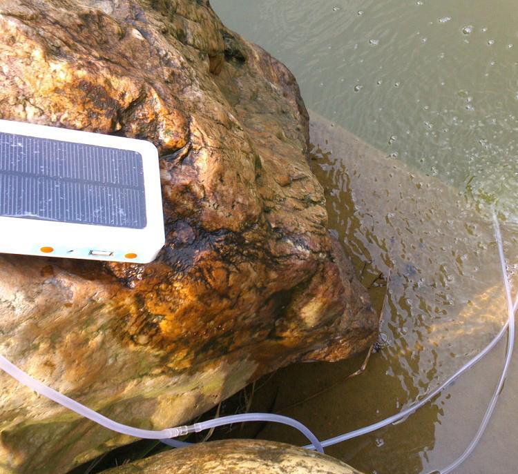 Solar Powered Portable Oxygen Oxygenator Air Pump Aerator Fish Tank Pool Pond Ebay