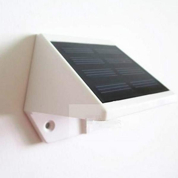 Outdoor Solar Powered 4-LED Lights Pathway Up-Stair Wall Mounted Garden Lamp eBay