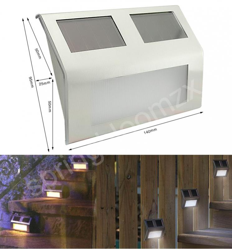 Neu 2 led solarleuchte outdoor solar lampe f r gang treppenhaus wand garten ebay - Fenster fur treppenhaus ...