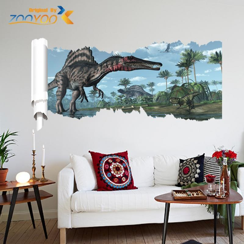 Jurassic World Dinosaur Scroll Vinyl Mural Wall Decal
