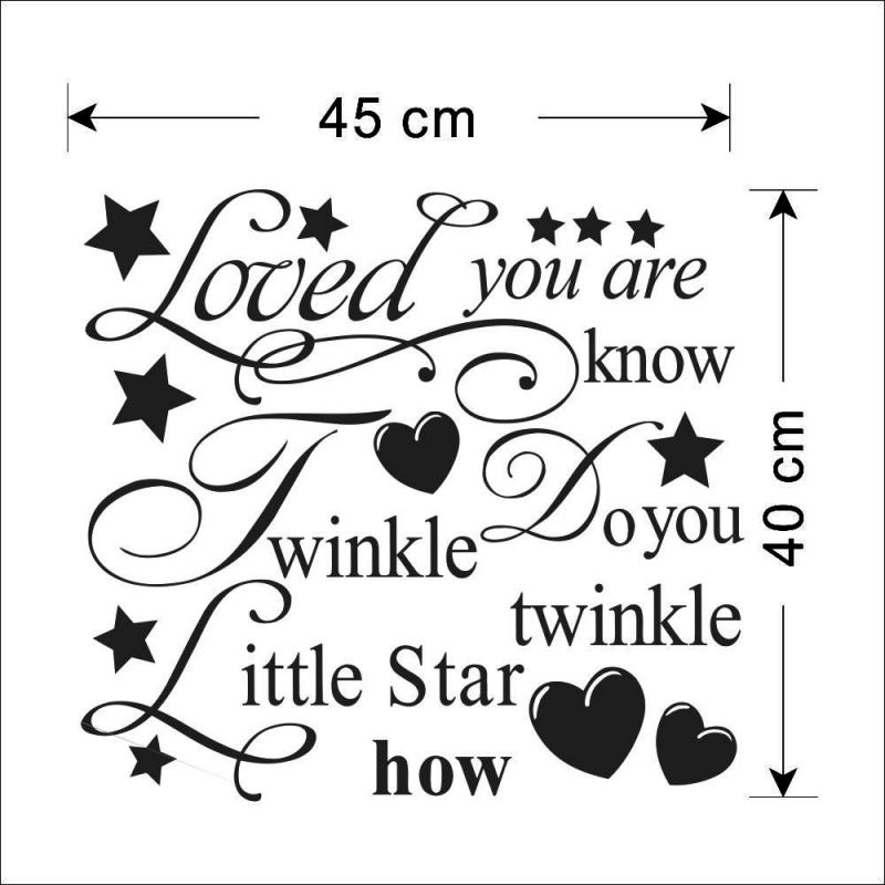 Little star mural wall quote art words decals sticker room decor