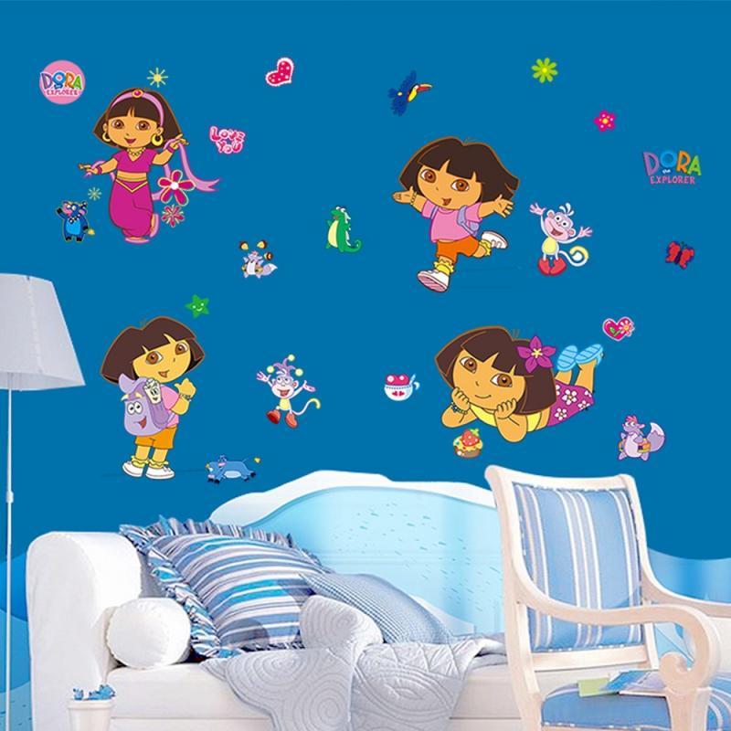 dora monkey wall decals sticker room decor for kids girls room decor