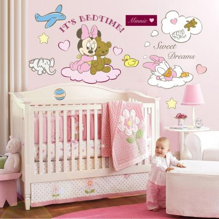 Mickey Minnie Mouse Bed Time Sweet Dream Wall Sticker