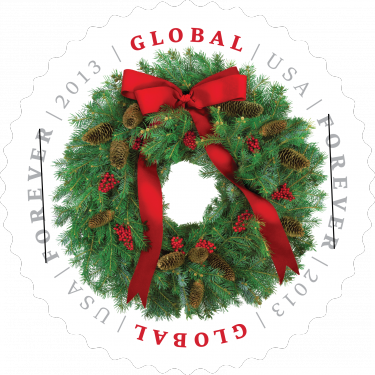 Global Wreath 2013 stamp
