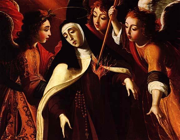La transverbération de Sainte Thérèse, 1672, by Josefa de Óbidos, Eglise (Igreja Matriz) de Cascais Josefa de Óbidos [Public domain], via Wikimedia Commons