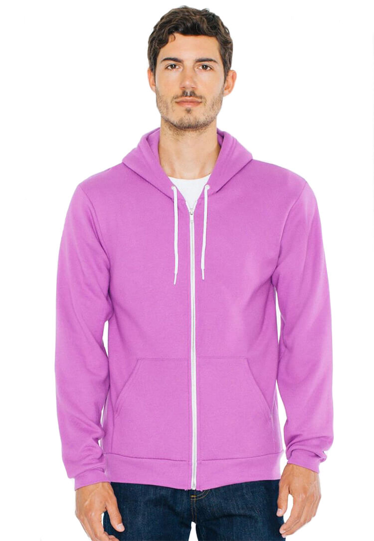 a99e6aee American Apparel Custom Hoodies, Unisex Flex Fleece Zip Hoodie
