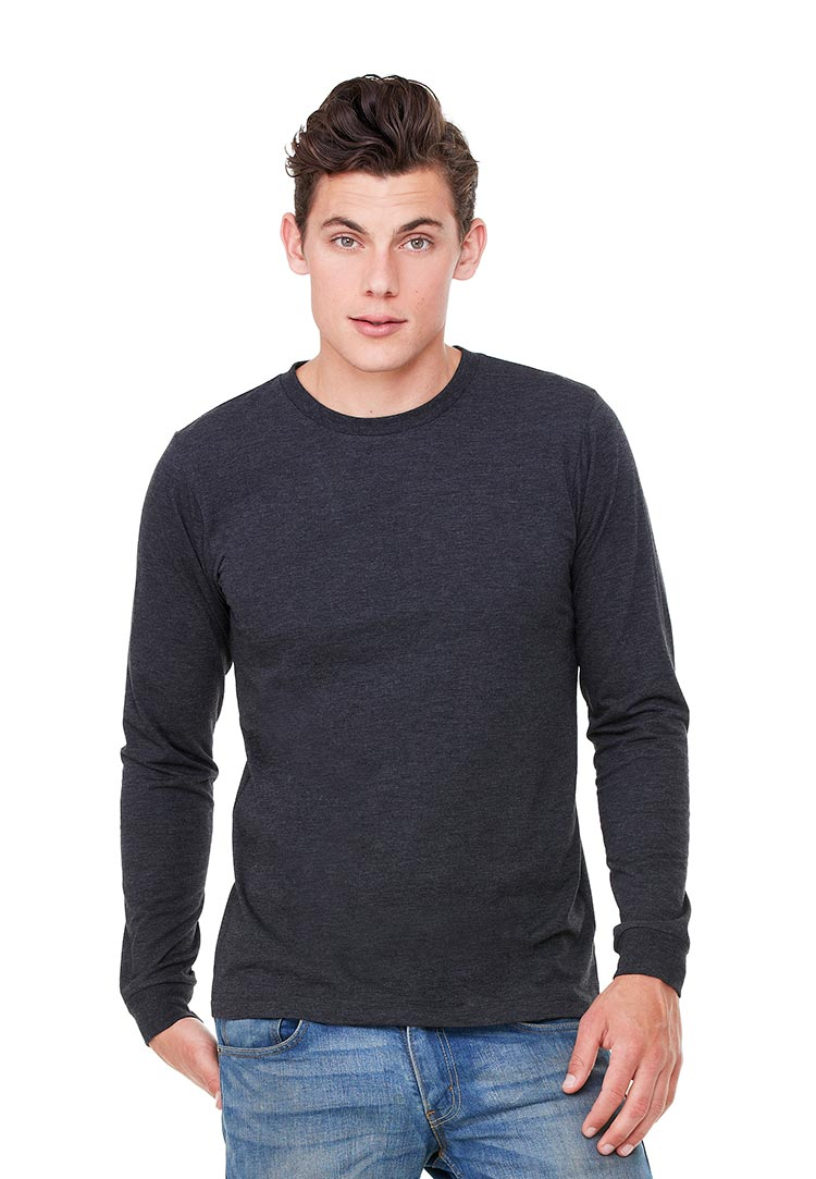 dff022922cba9 Canvas 3501 Men's Jersey Long Sleeve Tee (Tri-Blend) | Threadbird