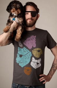Animals with Eyepatches! Yes!, Was $12.95 - Now $8.99! + Threadless Collection