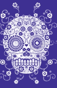 Sugar Skull: iPad Case