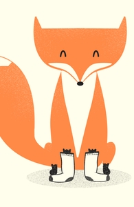 A Fox with Socks