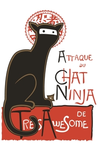 A French Ninja Cat!: Threadless Throw Pillow, Pillows + Threadless Collection