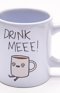 Drink Me Coffee: 12 oz Mug, Mugs + Threadless Collection