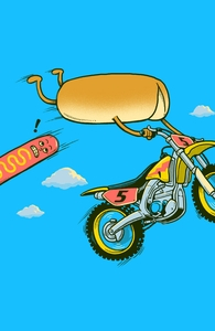 Motocross Accident, Humor + Threadless Collection