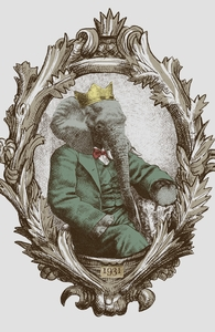 Royal Portrait, 1931, Animals + Threadless Collection