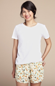 Feathered Social: Girly Poplin Shorts, Select Girly + Threadless Collection