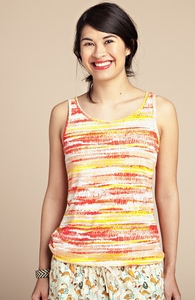 Sunset Stripes: Girly Summer Tank, Select Girly + Threadless Collection