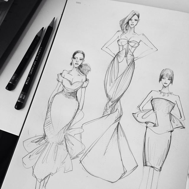 Designs fashion drawings new photo