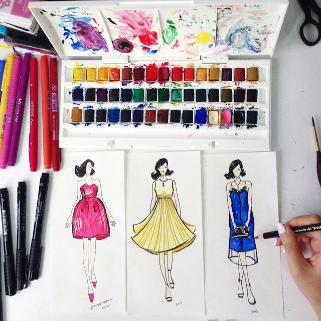 Essentials for a Fashion Sketching Tool Kit