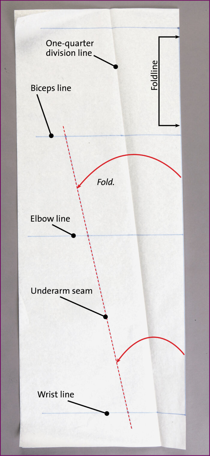 Fold your sleeve pattern