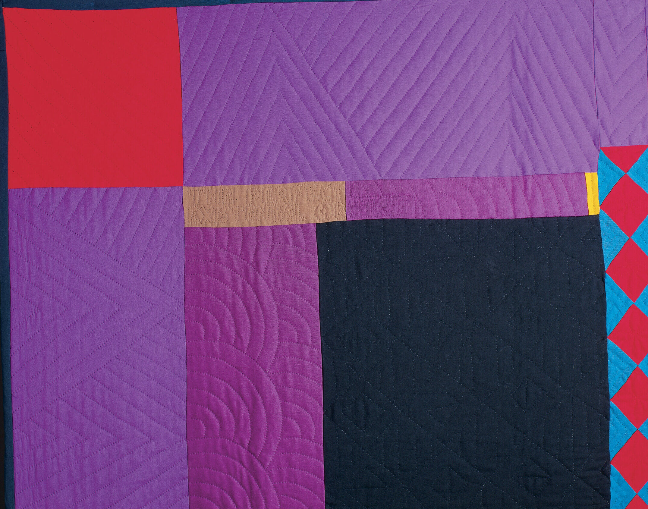 Freehand quilting effects 3