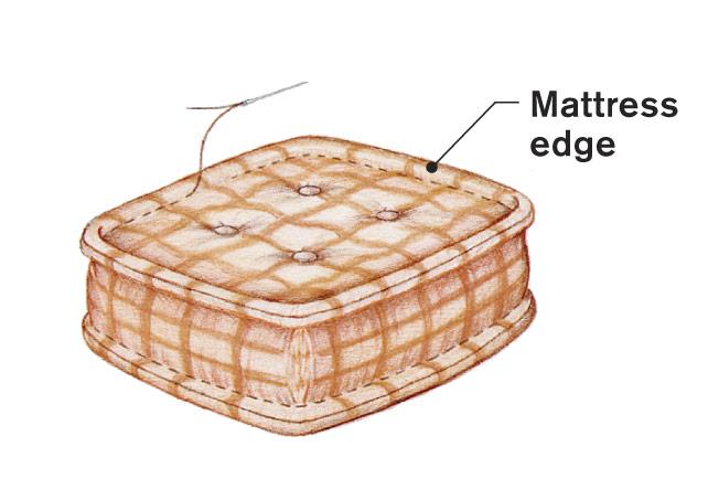 mattress edge.