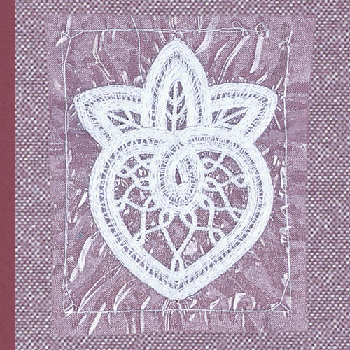 Embroidering lace
