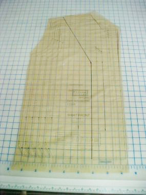vertical from bust to hem line