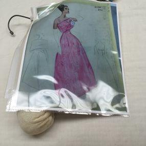 Dior gown sketch