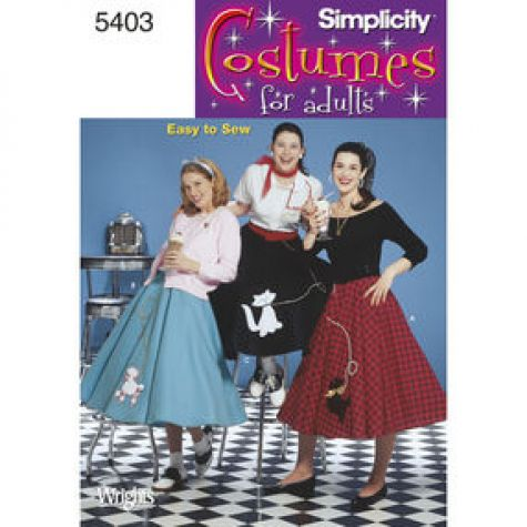 You and your friends can bring back the 1950s with these poodle skirt patterns. Reminiscent of the wildly popular Broadway musical and 1978 movie Grease ...  sc 1 st  Threads Magazine & Pattern Roundup: Halloween Costumes - Threads