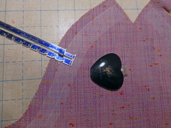 adjusting the sleeves for embellishment
