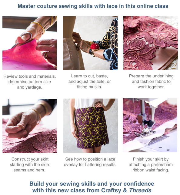 Couture Lace Skirt with Susan Khalje - Enroll now!