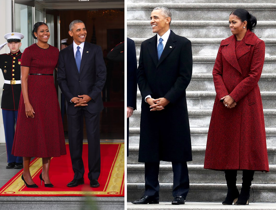Fashion from the 2017 presidential inauguration threads the obamas inauguration day 2017 red dress ombrellifo Image collections