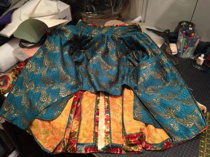 how to sew a cut-velvet frock coat
