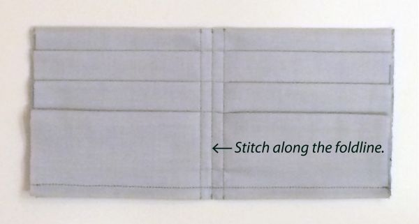 Stitch down the center