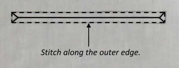 Stitch around the outer edge