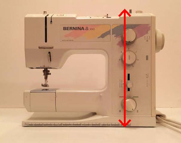 Sewing machine length