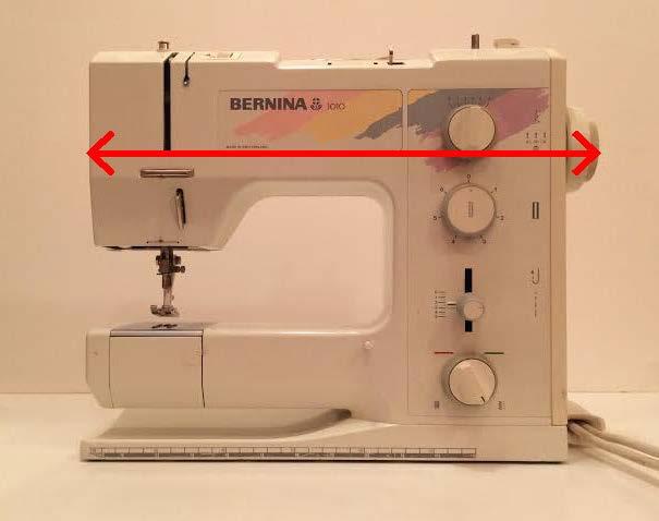 Sewing machine width