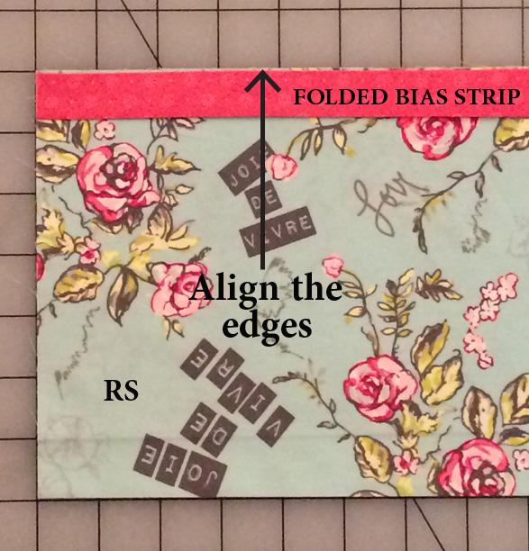 Align the bias strip
