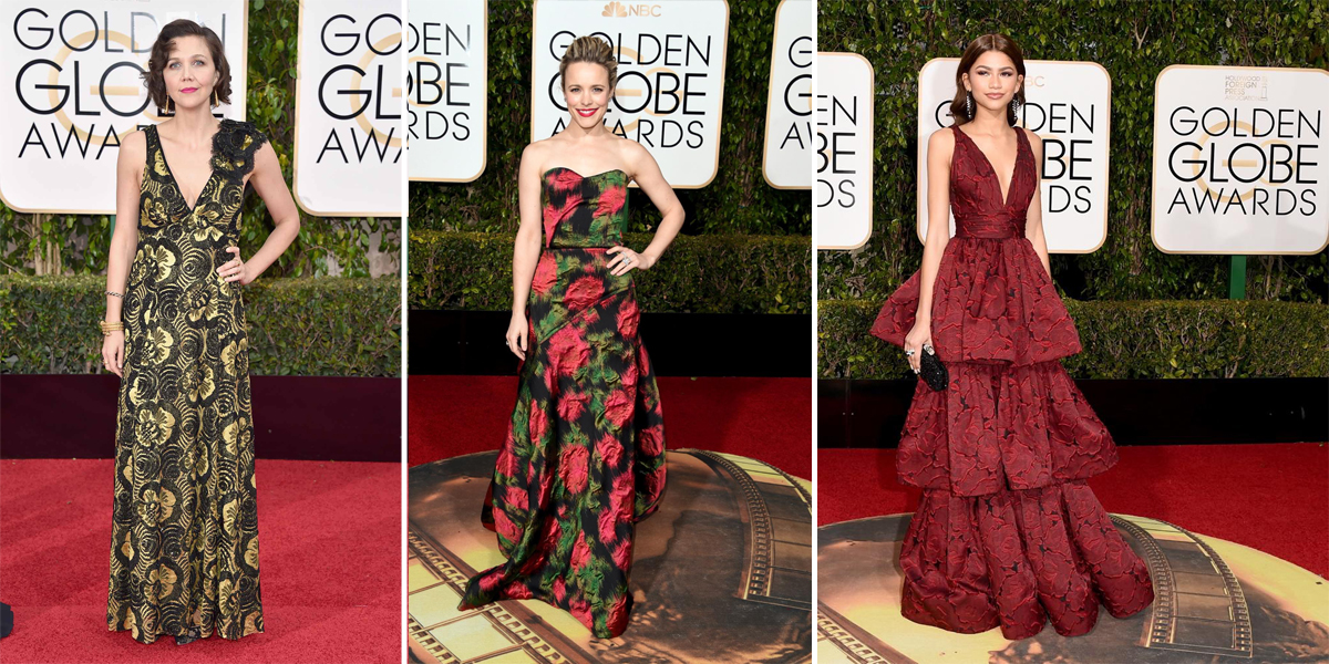florals at golden globes 2016