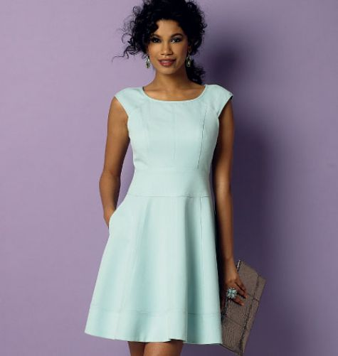 This Lined Dress Has Bias Neck And Sleeve Binding Princess Seams Fitted Bodice Wide Waistband Side Pockets Hem Band Cut On The Cross Grain